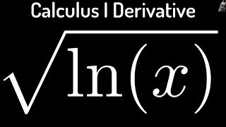 derivative of f x sqrt ln x