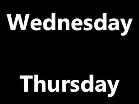 Kurs engleskog - dani u nedelji