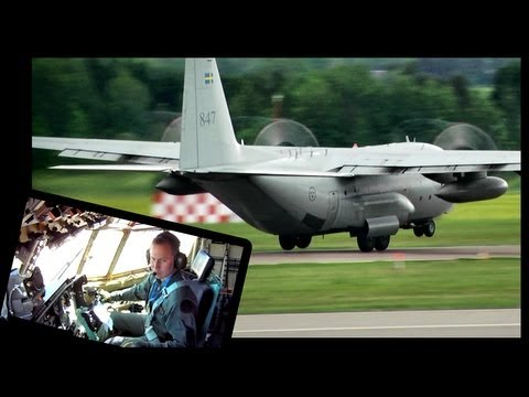 Lockheed C130 Hercules Takeoff (With Cockpit View!) in Full HD1080p