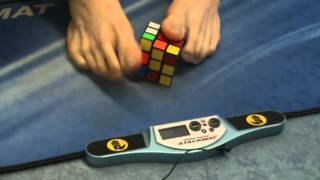 Rubik's cube with feet former world record 31.56 seconds