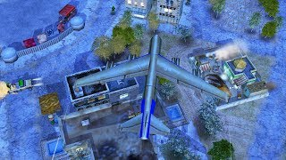 BIG US BOMBER LEVELS CITY, CHINESE ARMY BATTLE | Command & Conquer Generals Gameplay