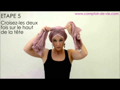 nouer un foulard sur la t te fa on turban crois youtube. Black Bedroom Furniture Sets. Home Design Ideas