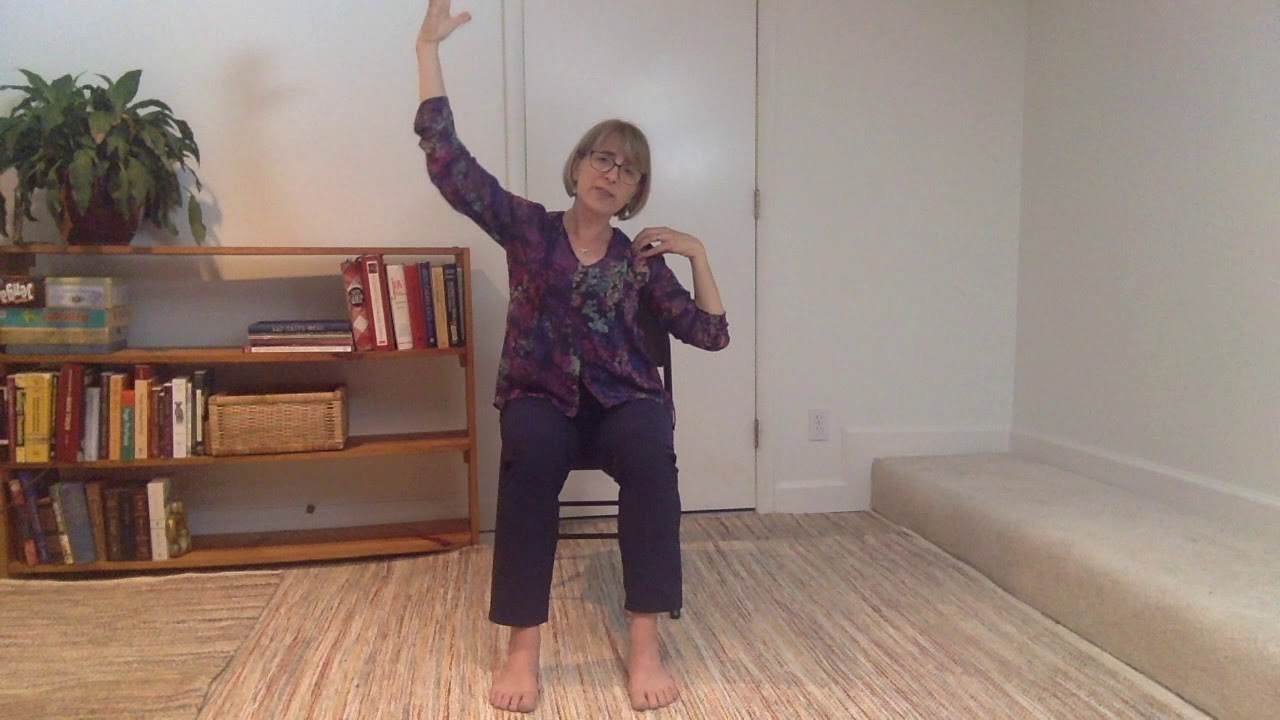 Seated Yoga with Sun Salutation - YouTube