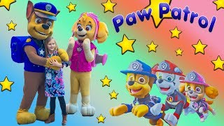 Paw Patrol and the Assistant at the Toy Fair with Marshall