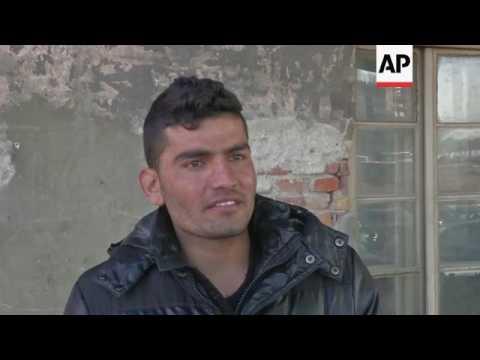 Migrant life in Belgrade warehouse