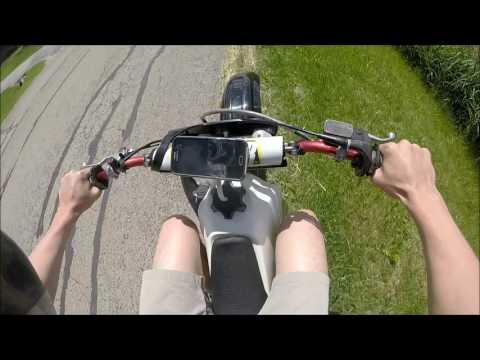 Honda Cr 80 Bigwheel Top Speed Test!!!