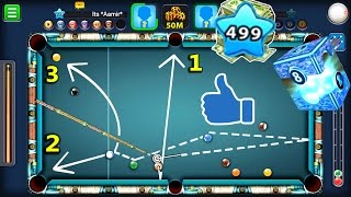 How To Pot 3 Balls In 1 Shot LIKE A BOSS- 8 Ball Pool Level 499 Player | Max Power Side Spin