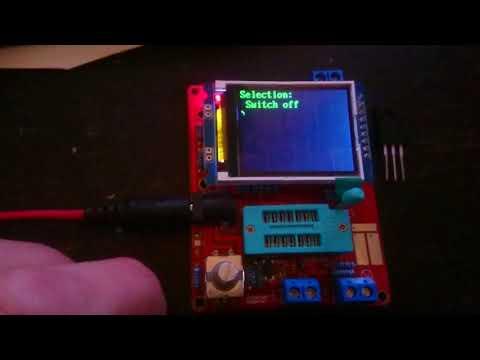 Component Tester Transistor Diode Capacitance ESR Meter Signal Generator Tool Component Tester fail