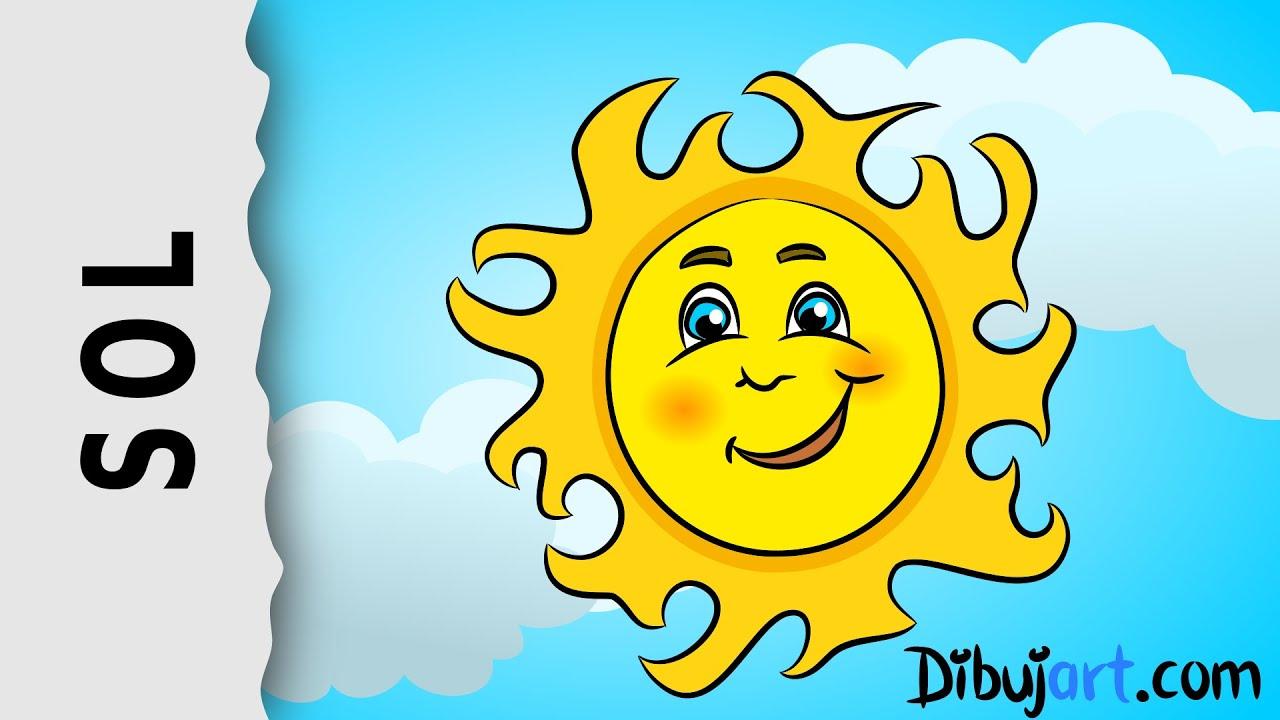 cómo dibujar un sol dibujo animado paso a paso youtube
