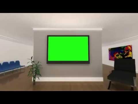 Футаж Телевизор на стене Хромакей три позиции