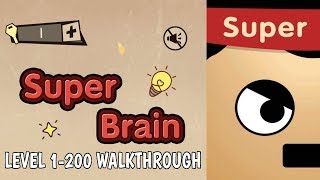 Super Brain Funny Puzzle Level 1 200 Walkthrough