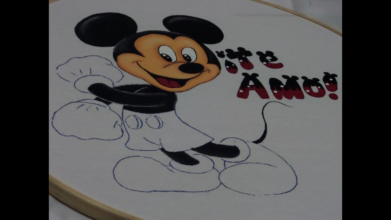 Pintura en Tela  Mickey Mouse  Parte 2  YouTube