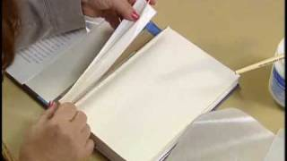 9. Repairing a broken hinge on a library book