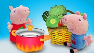 Свинка Пеппа иДжордж нашли древнюю книгу рецептов! —Игрушки измультфильмов и превращающее зелье