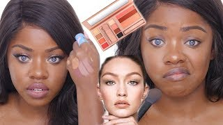 Maybelline X Gigi Hadid Collection on DARK SKIN ... mmmm??
