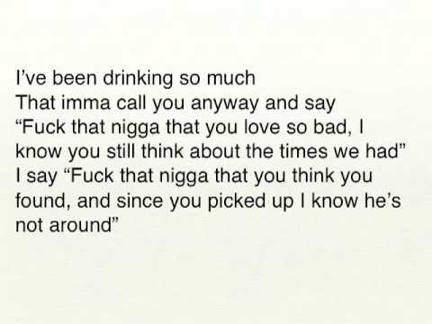 Marvin's Room - Drake w/ lyrics on screen