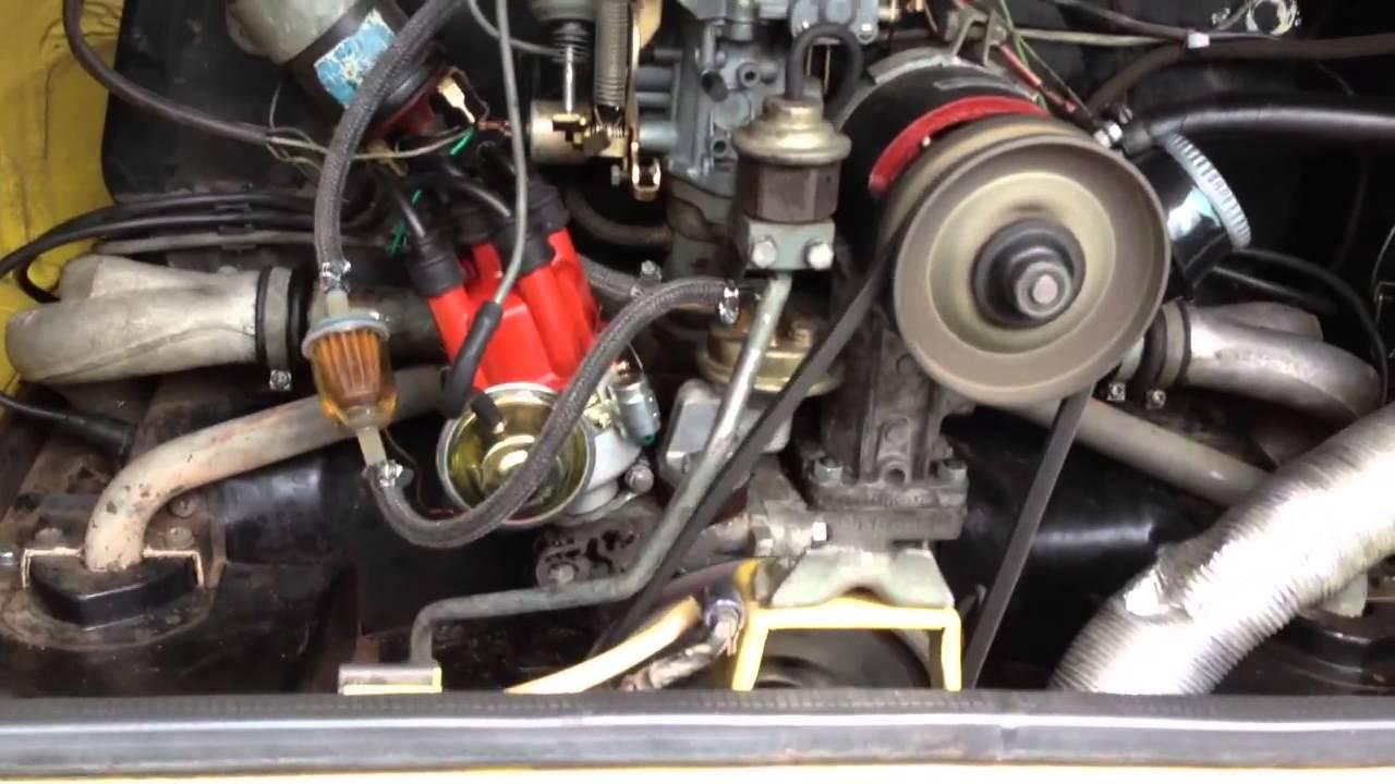 1973 VW Thing Engine - YouTube