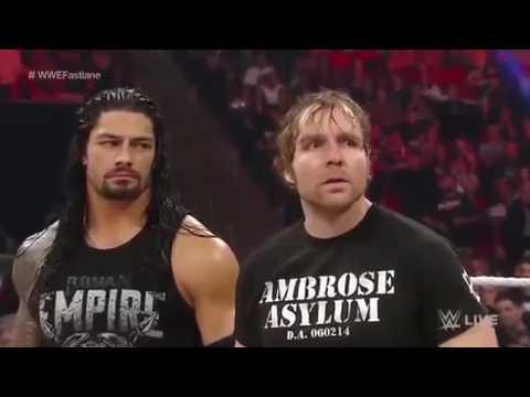 wwe funny hindi Brock lesnar vs Roman reigns vs Dean ambrose