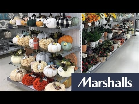 MARSHALLS FALL DECOR HALLOWEEN THANKSGIVING HOME DECOR - SHOP WITH ME SHOPPING STORE WALK THROUGH 4K