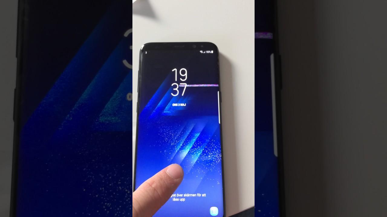 Samsung galaxy S8+ screen flicker/glitch