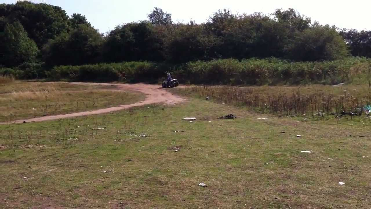 KIDS ON QUADS My 3 year old riding racing his suzuki lt80 quad with his 5  year old cousin