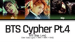 BTS (Rap Line) - BTS Cypher pt.4 (Color Coded Lyrics/Han/Rom/Eng)