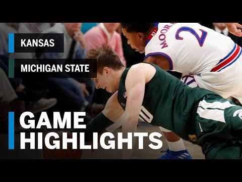 Extended Highlights: Michigan State Spartans vs. Kansas Jayhawks | Big Ten Basketball