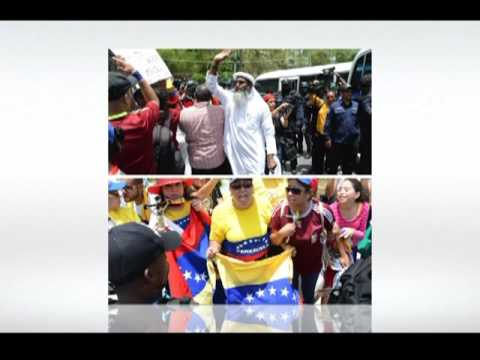 Venezuelans protest outside T&T Diplomatic Centre  | CEEN News | May 23, 2016