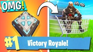 HAVING FUN WITH BOUNCE PADS & SHOPPING CARTS! (FORTNITE BATTLE ROYALE)