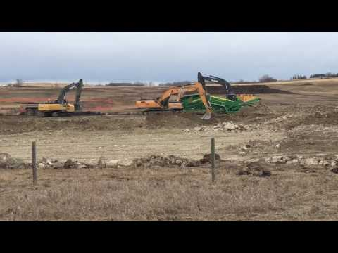 Calgary SW Ring Road construction - March 2017