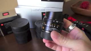 Leica lenses! 50 Summicron APO, Noctilux and Summilux