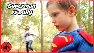 Superman vs Bully Girls vs Boys Toys w Cleaning Lady