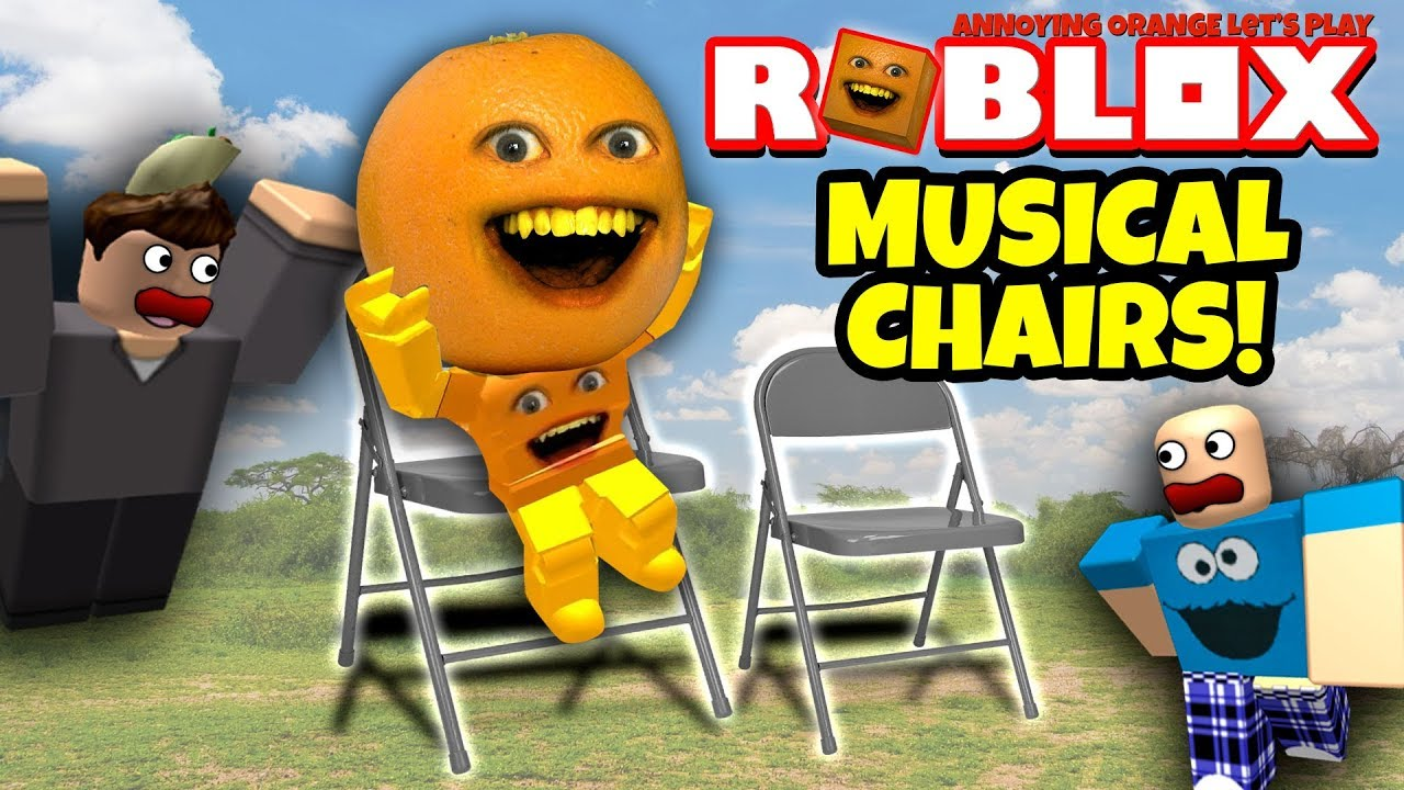 Musical chair game for kids - Roblox Musical Chairs With Farts Annoying Orange Plays
