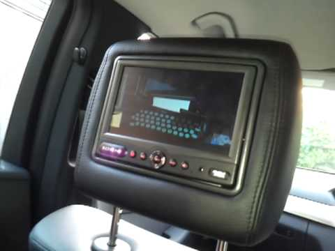 rosen av7500 headrest dvd demonstration youtube. Black Bedroom Furniture Sets. Home Design Ideas