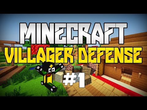 Minecraft - BRONIMY VILLAGERÓW! - Villager Defense [#1]