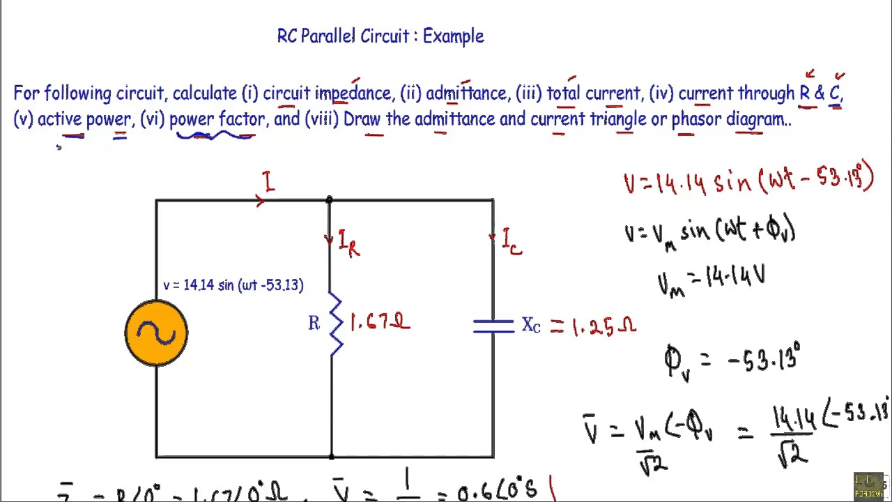 hight resolution of rc parallel circuit ac example