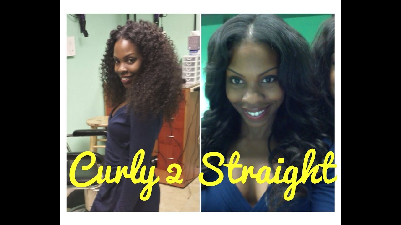 Curly To Straight Weave Tutorial Limelight Extensions Review Youtube