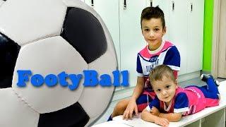 VLOG FootyBall наш Пробный Урок в сети футбольных клубов для дошкольников Видео для детей