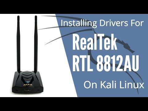 Installing Drivers for RealTek RTL8812AU on Kali Linux