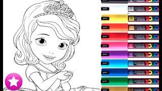 ROTULADORES MÁGICOS Princesa Sofía Descubre los dibujos secretos Coloreando Coloring Painting