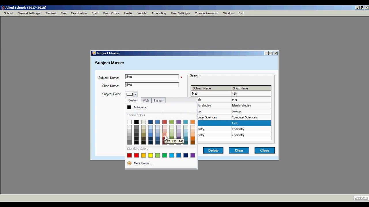 School/ College Management System - A Complete Desktop Based School Software