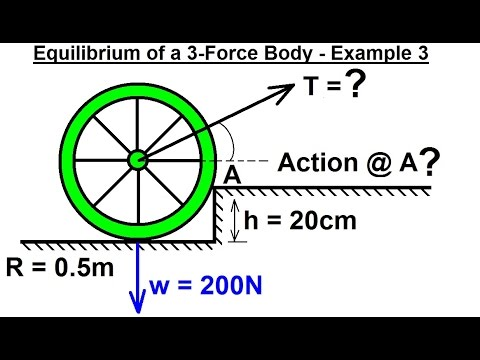 Mechanical Engineering: Equilibrium of Rigid Bodies (19.5 of 32) Ex. 3 Eq. of 3-Force Body