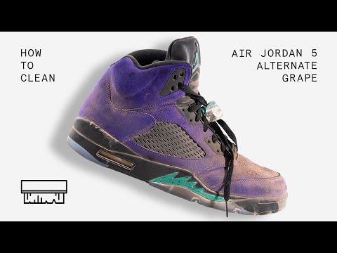 to Clean Air Jordan 5 Alternate Grape