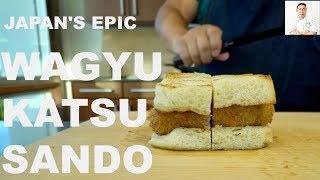 Japan's Epic Wagyu Katsu Sando | Miyazaki Wagyu A5 Strip Steak
