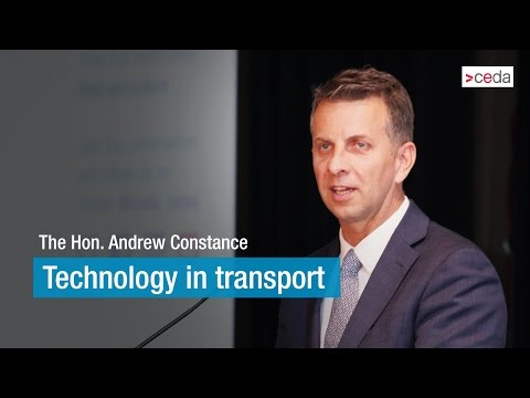 Technology in transport - The Hon. Andrew Constance MP