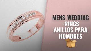 Mens-wedding-rings 2018 Mejores Ventas: Men's 14k Rose Gold Diamond Wedding Band