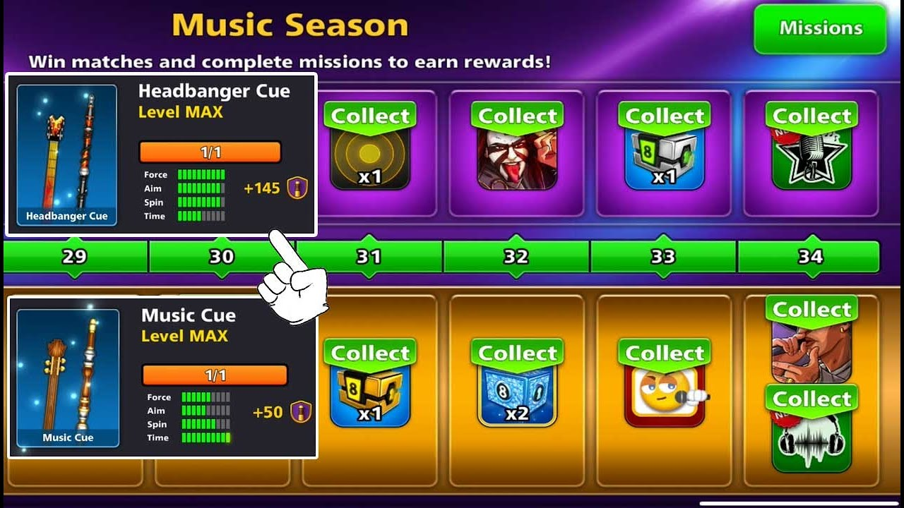 8 ball pool Max Rank Pool Pass 🤯 Elite Music Season