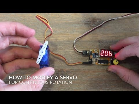 How To Modify A Servo For Continuous Rotation - YouTube