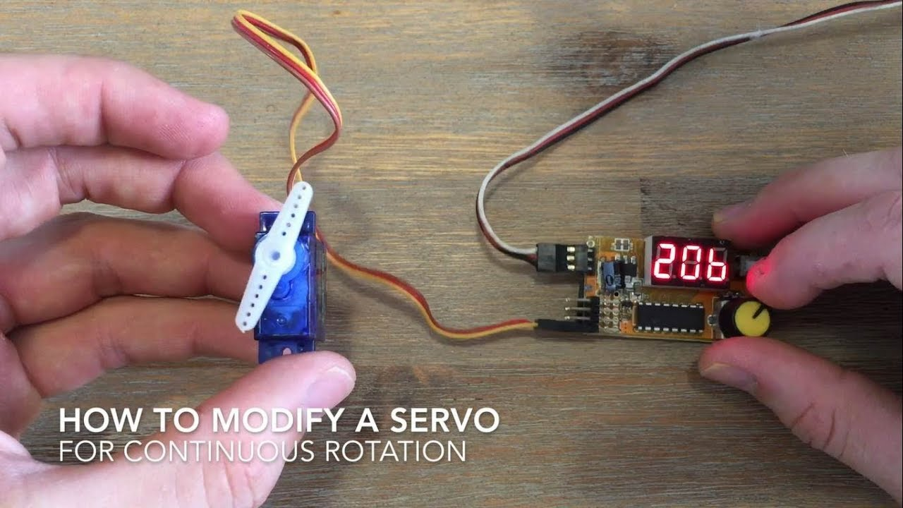 How To Modify A Servo For Continuous Rotation