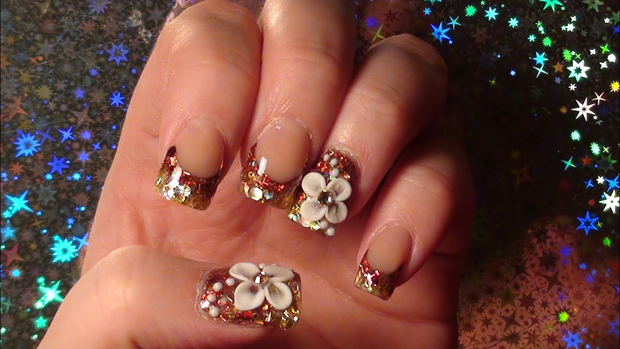 Elegant Fall Acrylic Nail Tutorial - YouTube